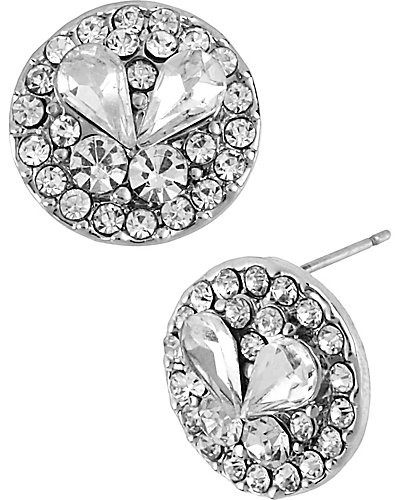 CRYSTAL SMALL CIRCLE STUD EARRING CRYSTAL