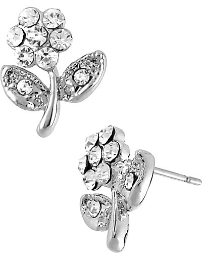 CRYSTAL SMALL FLOWER EARRING CRYSTAL