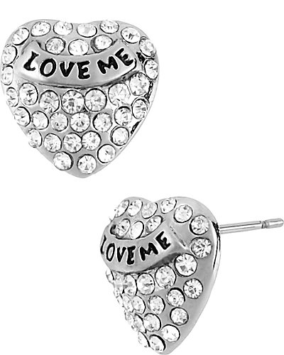 CRYSTAL SMALL HEART STUD EARRING CRYSTAL