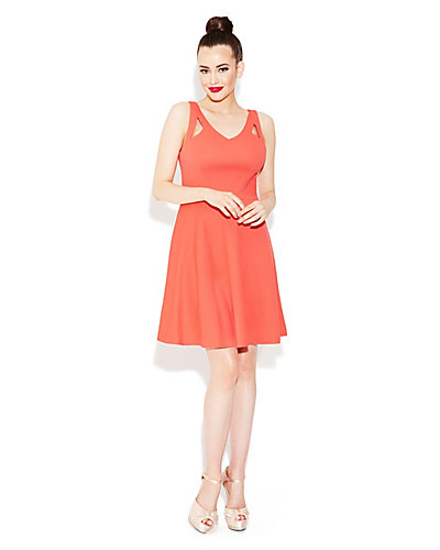 CUTOUT SUMMER DRESS CORAL