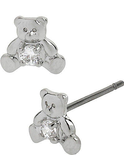 CZ TEDDY BEAR STUD CRYSTAL