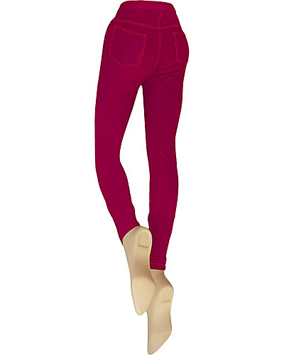 DENIM CUT AND SEW LEGGING RASPBERRY