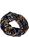 DIGITAL ROSE CHAIN EDGE INFINITY SCARF BLUE