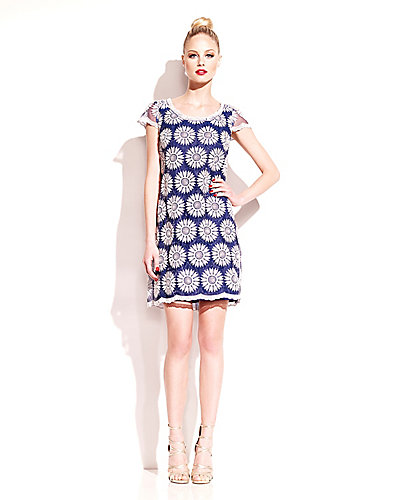 DIZZY DAISY SHIFT DRESS NAVY