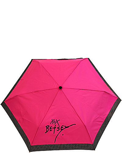 DOTTED AUTO OPEN AND CLOSE UMBRELLA PINK
