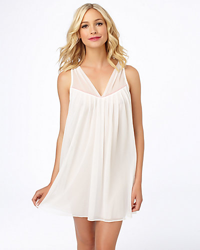 DOUBLE LAYER TRICOT SLIP WHITE