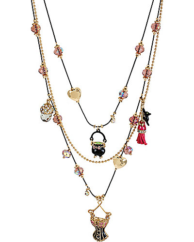 ENCHANTED CORSET MUSHROOM NECKLACE MULTI