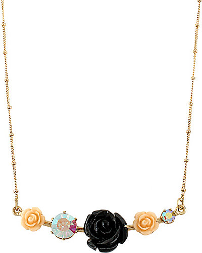 FABULOUS FLOWERS BAR NECLACE MULTI