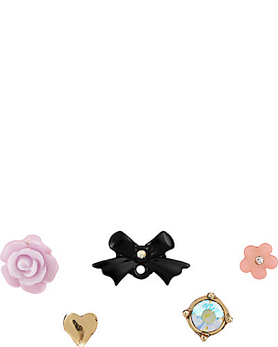 FABULOUS FLOWERS BOW 5 STUD SET MULTI