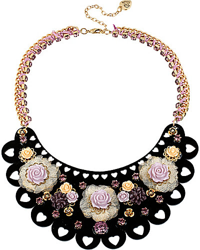 FABULOUS FLOWERS HALF MOON NECKLACE MULTI