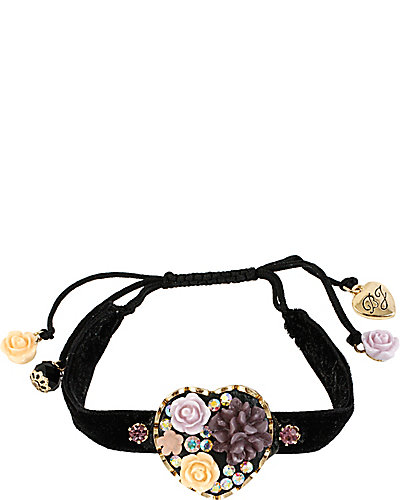 FABULOUS FLOWERS HEART BRACELET MULTI