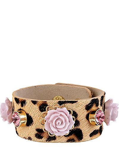 FABULOUS FLOWERS LEOPARD BAND LEOPARD
