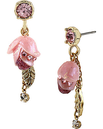 FAIRYLAND TULIP DROP EARRING PINK