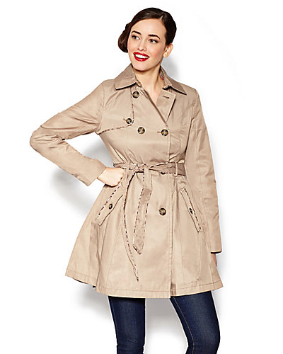 FALL COTTON KISS TRENCH COAT WITH PIPING BEIGE