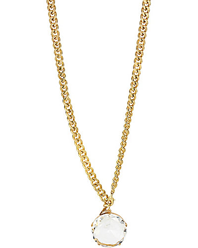 FASHION SHOW LARGE CRYSTAL PENDANT NECKLACE CRYSTAL