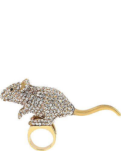 FASHION SHOW MOUSE STRETCH RING CRYSTAL