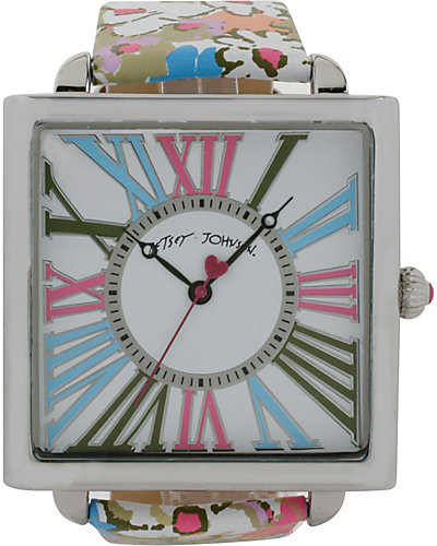 FASHION SHOW SQUARE FLORAL WATCH MULTI
