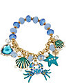 FEELING CRABBY CRAB STRETCH BRACELET BLUE