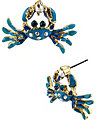 FEELING CRABBY CRAB STUD EARRING BLUE