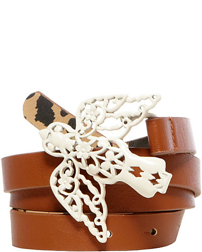 FILIGREE BIRD BELT COGNAC