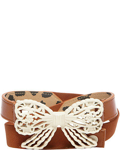 FILIGREE BOW BELT COGNAC