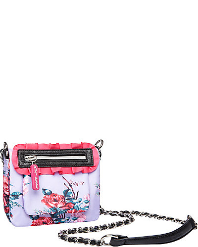FLORAL EXPLOSION CROSSBODY PURPLE MULTI