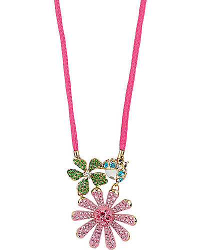 FLOWER BOOST PAVE FLOWER PENDANT MULTI
