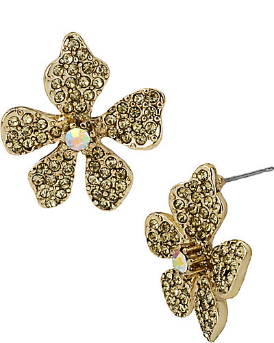 FLOWER BOOST PAVE FLOWER STUD MULTI