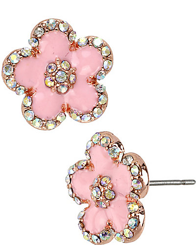 FLOWER PINK EARRING PINK
