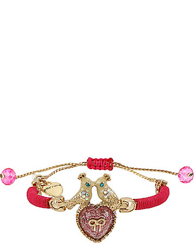 FRIENDSHIP KISSING BIRD BRACELET PINK MULTI