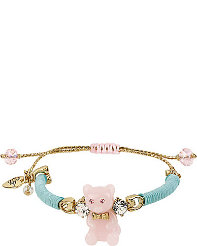 FRIENDSHIP PINK BEAR BRACELET PINK BLUE