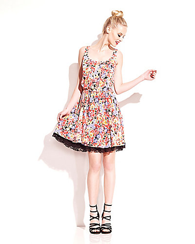 GARDEN PARTY FLORAL DRESS MULTI