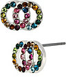 GIRLIE DOUBLE CIRCLE EARRING MULTI
