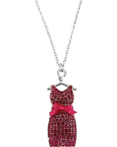 GIRLIE DRESS PENDANT PINK