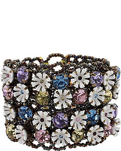 GIRLIE GRUNGE FLOWER STRETCH CUFF MULTI