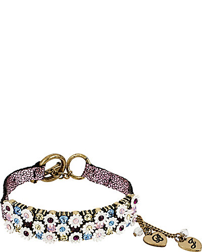 GIRLIE GRUNGE FLOWER WRAP BRACELET MULTI