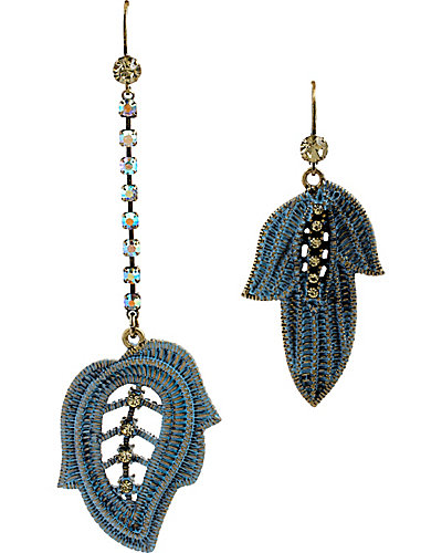 GIRLIE GRUNGE LEAF MISMATCH EARRING MULTI