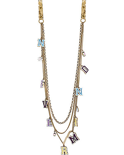 GIRLIE GRUNGE NEVERMIND NECKLACE PURPLE MULTI