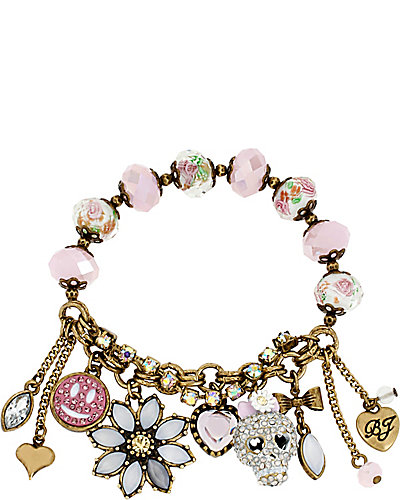 GIRLIE GRUNGE SKULL BRACELET PURPLE MULTI