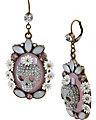 GIRLIE GRUNGE SKULL CAMEO EARRING PURPLE MULTI
