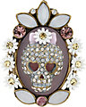 GIRLIE GRUNGE SKULL CAMEO RING MULTI