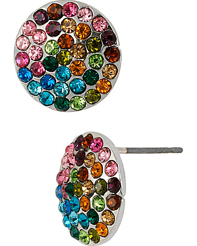 GIRLIE RAINBOW CIRCLE EARRING MULTI