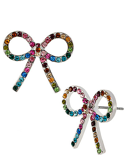 GIRLIE RANBOW BOW EARRING MULTI