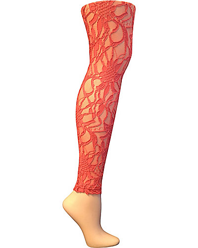 GIRLY LACE LEGGING PEACH