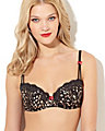GOLD RUSH RETRO DEMI BRA BLACK