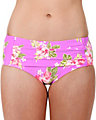 HAWAIIAN VACATION RETRO HI WAIST LILAC
