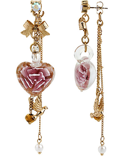 HEART BOOST LINEAR EARRING PINK