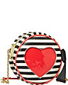 HEART CUT OUT CROSSBODY BLACK-WHITE