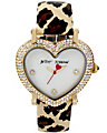 HEART SHAPED DIAL AND LEOPARD STRAP LEOPARD