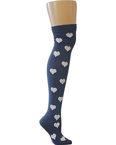 HEARTHROB OVER THE KNEE SOCK GREY